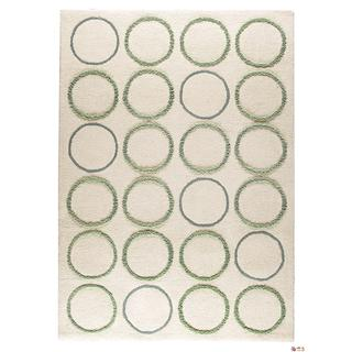 M.A.Trading Indian Hand-tufted Bilbao White Rug (4'6 x 6'6)
