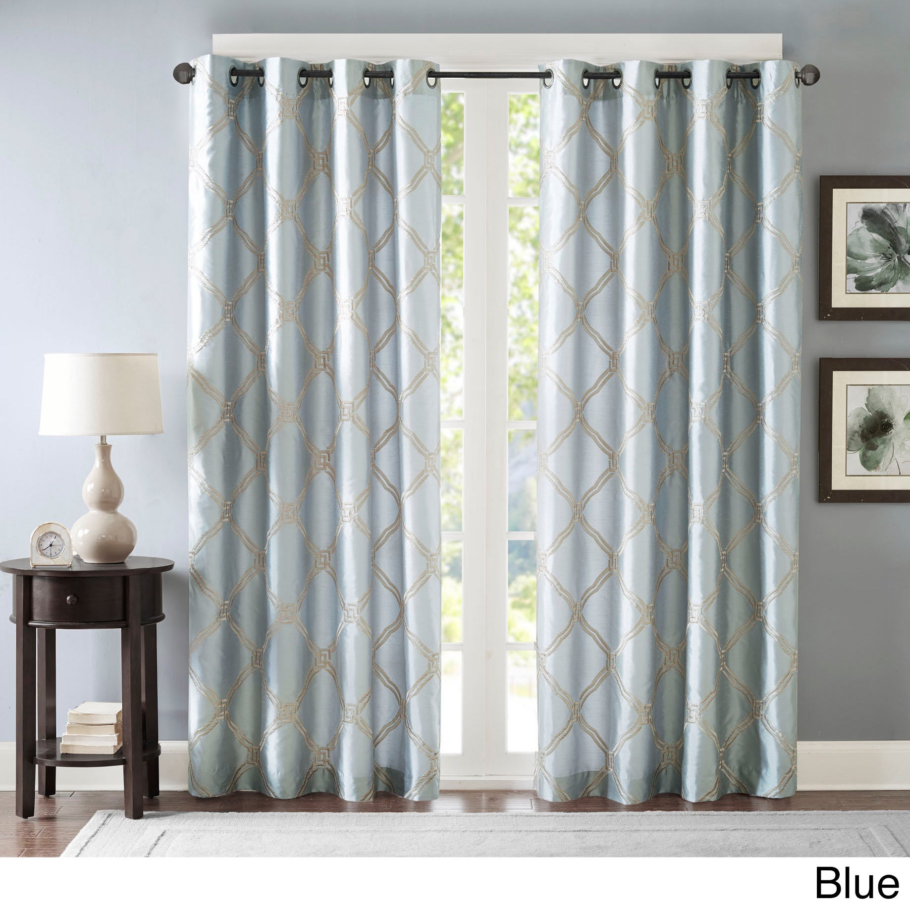 Bombay Teramo Embroidered Lined Polyoni Window Panel (More Options  Available)