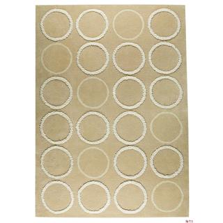 M.A.Trading Indian Hand-tufted Bilbao Beige Rug (4'6 x 6'6)