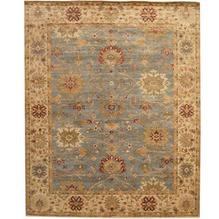Herat Oriental Indo Hand Knotted Tribal Oushak Wool Rug 8 X 10