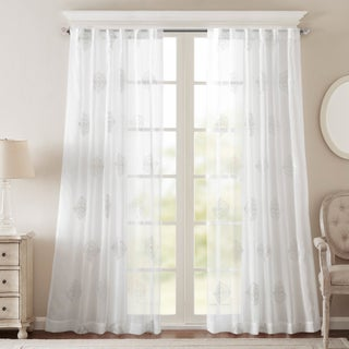 Bombay Massa Embroidered Sheer Window Curtain Panel (More options available)