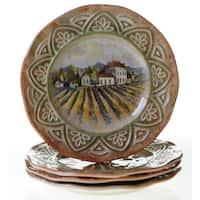 Certified International Sanctuary Wine 11.25-inch Dinner Plates (Set of 4)