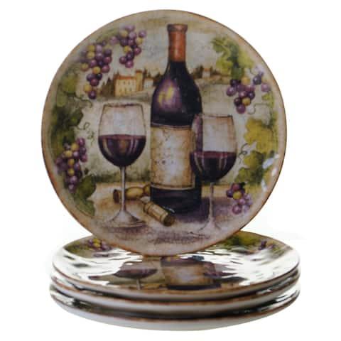 Certified International Sanctuary Wine 9.25-inch Dessert Plates (Set of 4)