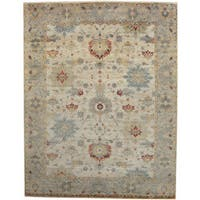 Herat Oriental Indo Hand-knotted Tribal Oushak Wool Rug - 9' x 12'