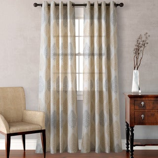 Heritage Landing Medallion Scrolls Curtain Panel Pair