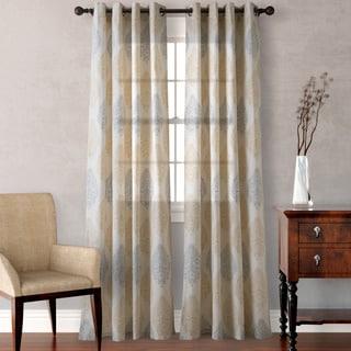 Heritage Landing Medallion Scrolls Curtain Panel Pair