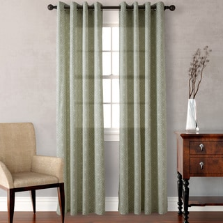 Heritage Landing Sage Diamond Geo Curtain Panel Pair