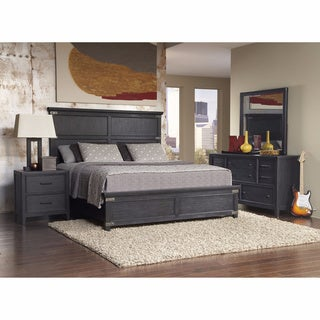 Hampton Charcoal Queen-size Bed