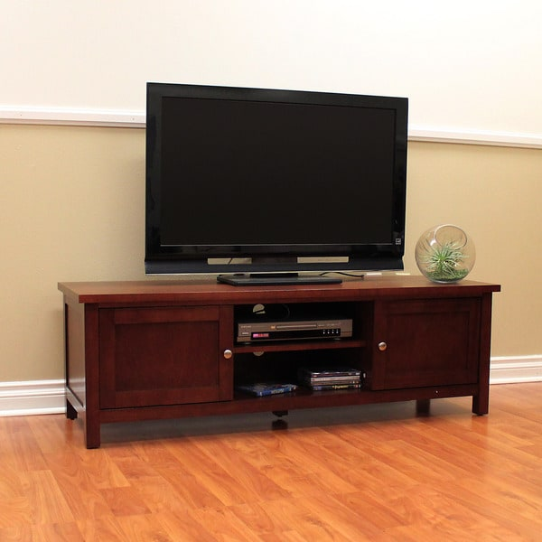 Shop Oakdale Cherry Tv Stand Free Shipping Today