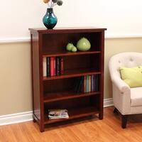 Oakdale Cherry 4-shelf Bookcase