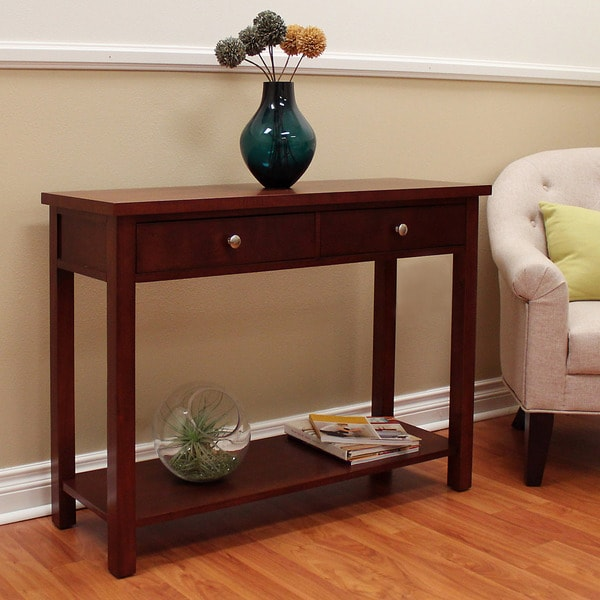 Overstock Console Tables Part - 10: Oakdale Cherry Console Table