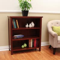 Oakdale Cherry 3-shelf Bookcase