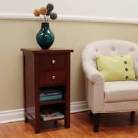 Oakdale Cherry 2-Drawer Accent Table