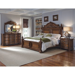 Davenport Pecan Queen-size Bed