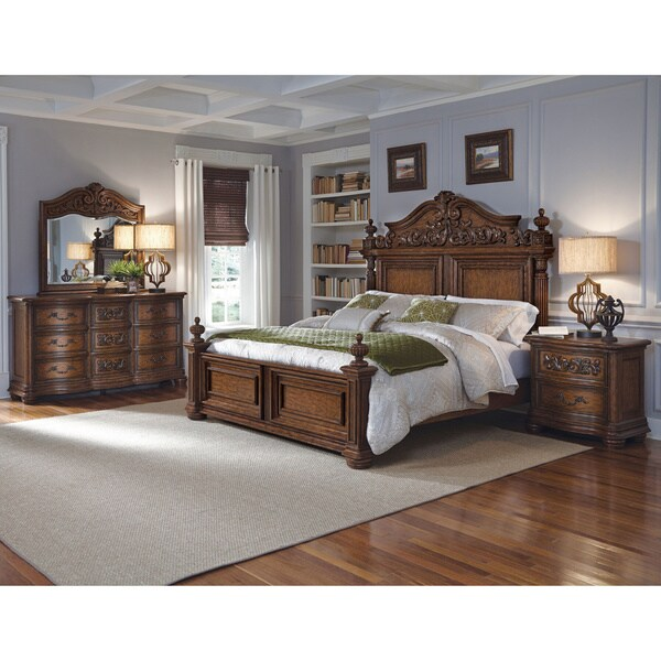 Shop davenport 6 piece king size bedroom set free shipping today 11452185 for 6 piece king size bedroom sets