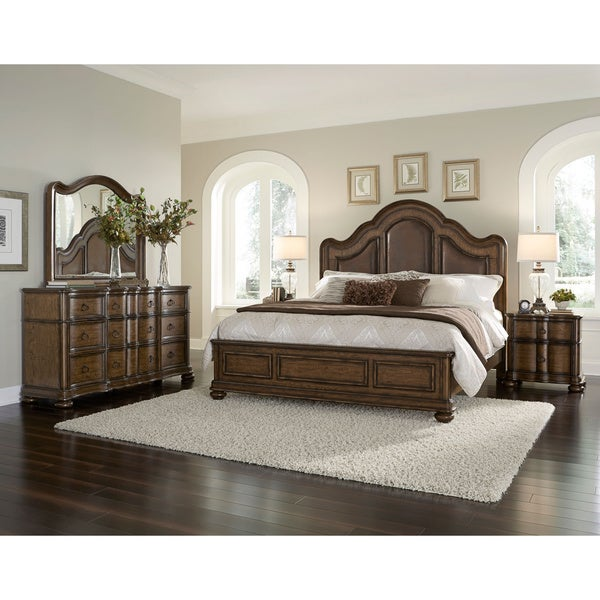 Jamieson Brown King-size Bed