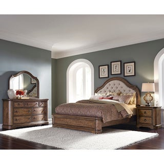 Francis Arched Brown King-size Bed