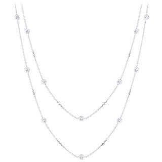 Luxurman 14k Gold Chain With 1 1/2ct TDW Diamond Necklace
