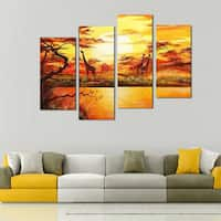 Hand-painted African Forest Painting 553 - Yellow