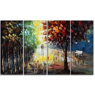 Hand-painted Landscape Forest Colors of Nature