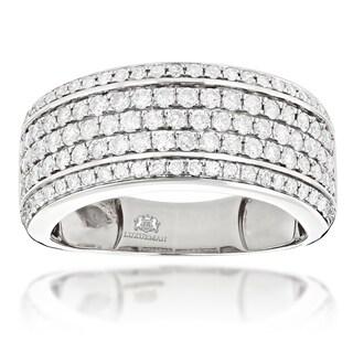 Luxurman 14k Gold 1 7/8ct TDW Men's Diamond Wedding Band Ring