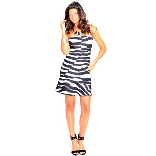 Sara Boo Black and White Zebra Dress