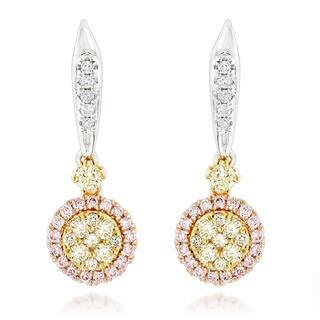 Luxurman 14k Three-tone Gold 7/8ct TDW Diamond Drop Earrings|https://ak1.ostkcdn.com/images/products/11452375/P18410974.jpg?impolicy=medium