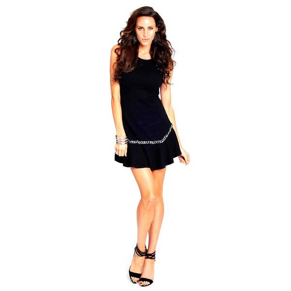 Shop Sara Boo Drop Waist Dress With Chain Detail