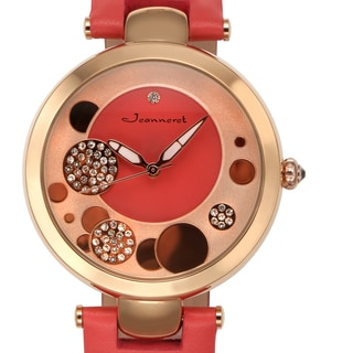Jeanneret Women's Austen Watch with Red Leather Strap