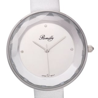 Jean Romilly Women's Sansa White Leather Watch