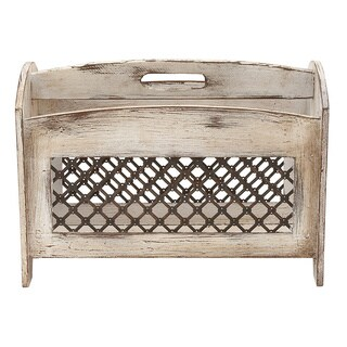 The Gray Barn Jartop Wood Metal Magazine Holder