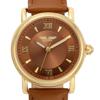Deporte Women's Danica Watch with Brown Genuine Leather Strap
