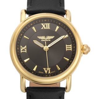 Deporte Women's Danica Watch with Black Genuine Leather Strap
