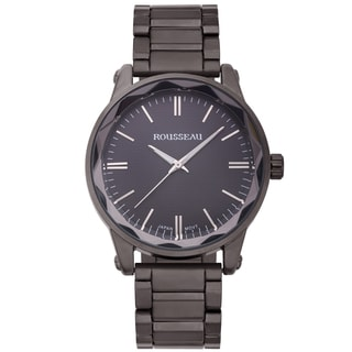 Rousseau Men's Nageli Grey Diamond Pattern Textured Dial Watch