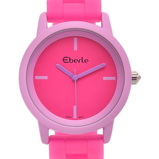 Eberle Women's Vitra Watch with Pink Silicone Strap