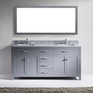 Virtu USA Caroline 72-inch Carrara White Marble Double White Marble Bathroom Vanity Cabinet Set|https://ak1.ostkcdn.com/images/products/11452451/P18411083.jpg?impolicy=medium