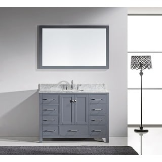 Virtu USA Caroline Avenue 48-inch Grey Single Bathroom Vanity Cabinet Set