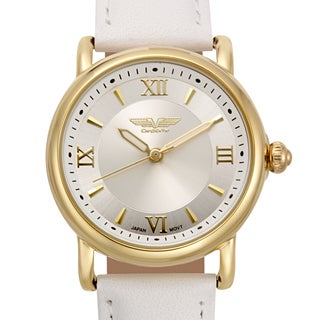 Deporte Women's Danica Watch with White Genuine Leather Strap