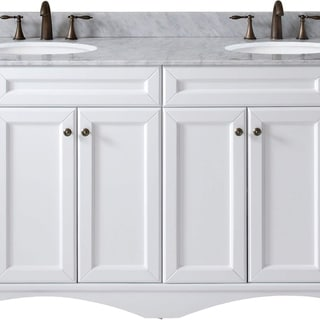 virtu usa talisa 72inch white marble double bathroom vanity set with no mirror