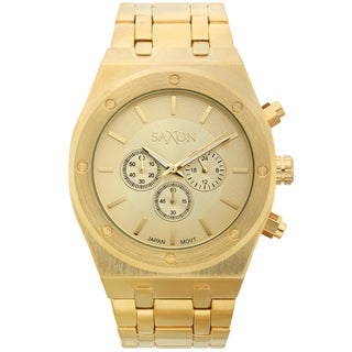 Saxon Men's Wuldor Goldtone Multi-function Watch
