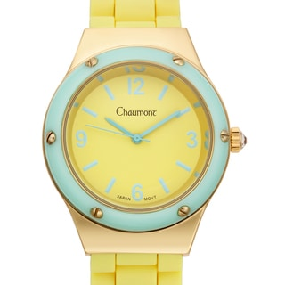 Chaumont Women's Renata Yellow Silicone Stainless Steel Watch