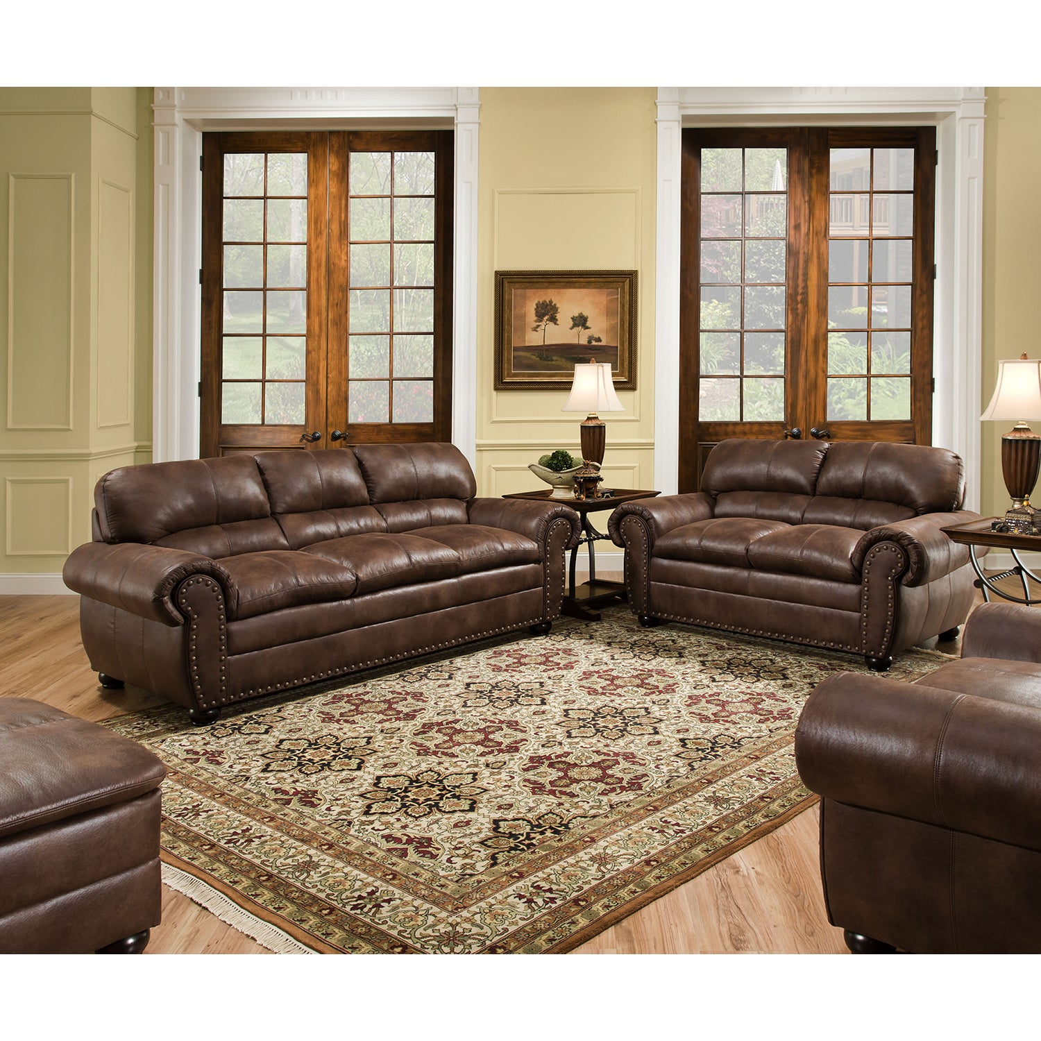 Simmons Upholstery Padre Espresso Loveseat (Brown) (Fabric)