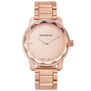 Rousseau Men's Nageli Rose-tone Diamond Pattern Textured Dial Watch