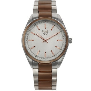 Picard and Cie Men's Labyrinth Silver-tone Brown Watch