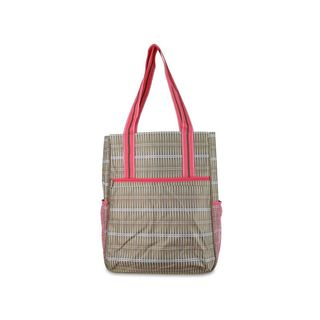 All For Color Khaki Rattan Tennis Shoulder Bag
