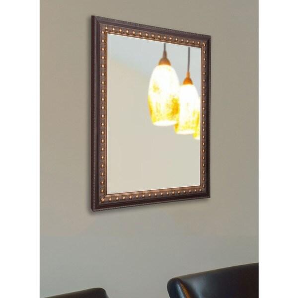 American Made Rayne Traditional Cameo Bronze Vanity Wall Mirror