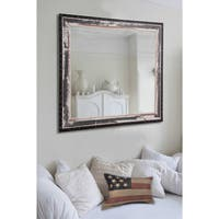 American Made Rayne Rustic Seaside Vanity Wall Mirror - Black/Ivory