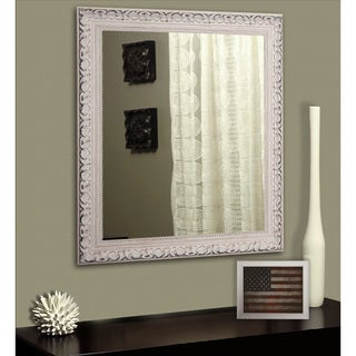 American Made Rayne French Victorian White Vanity Wall Mirror