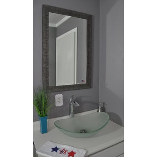 American Made Rayne Safari Silver Vanity Wall Mirror