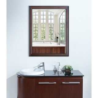 American Made Rayne American Walnut Vanity Wall Mirror